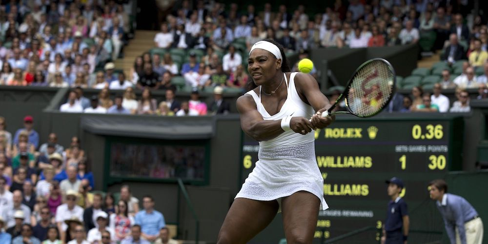 tennis myth watch ball contact point - serena williams
